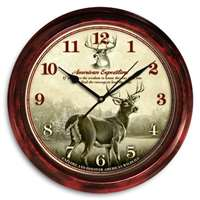 Deer Signature Clock