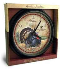 Wall Clock Wild Turkey