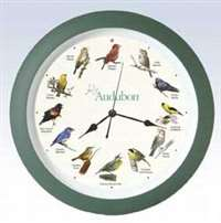 Audubon Singing Clock 13 in. Grn