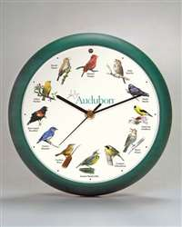Audubon Singing Clock 8 in Green