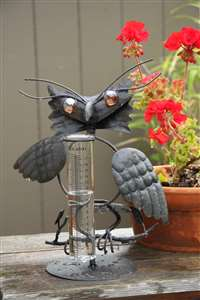 Owl Tabletop Rain Gauge