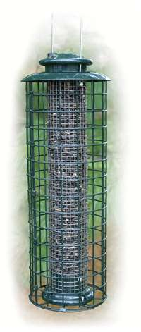 Caged Screen Sunflower Tube Feeder
